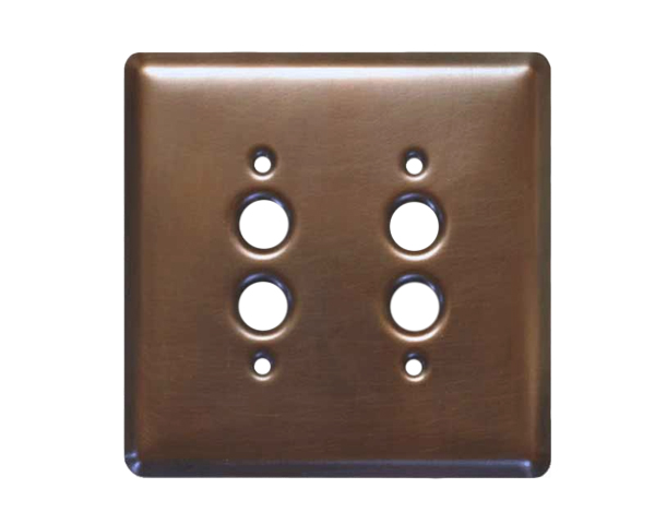 Picture of 1-3 gang Push Button Copper Switch Plate Cover