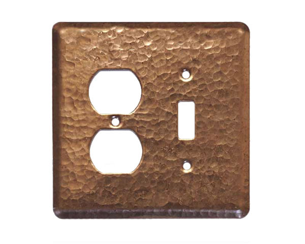 Picture of 2 gang Duplex-Toggle Copper Switch Plate Cover