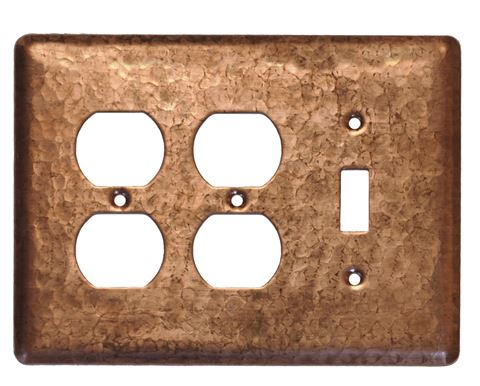 3 gang Duplex-Toggle Copper Switch Plate Cover