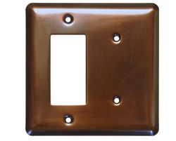 2 Gang Deco Blank Combo Copper Switch Plate Cover