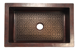 Mosaic Grate for Copper Sink