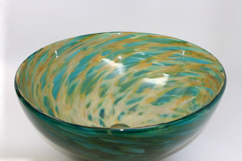 Blown Glass Sink - Morning Radiance