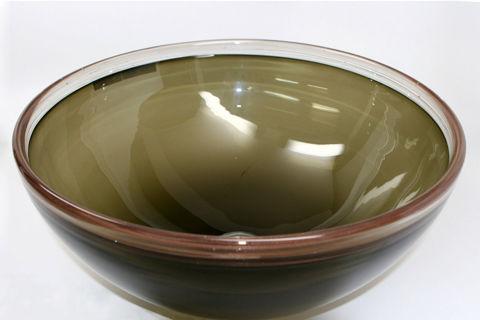 Blown Glass Sink - Light Olive Bronze