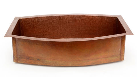 "33"" Squared Oval Copper Kitchen Sink by SoLuna"