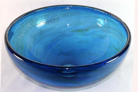 Blown Glass Sink - Blue Water III