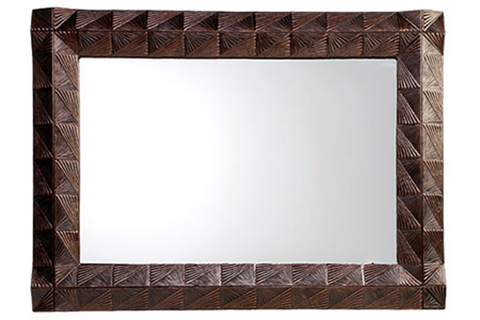 Double Fan Handcrafted Mirror