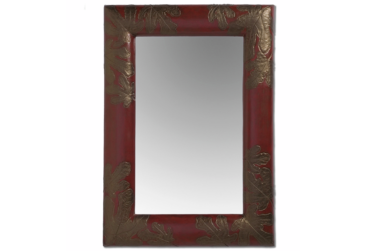 Picture of Fig Leaf Handcrafted Rectangle Mirror