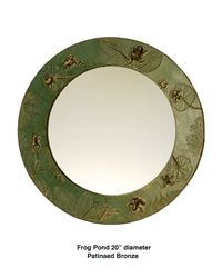 Frog Pond Handcrafted Round Mirror