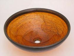 Blown Glass Sink | Honey Drop Stringer Classic