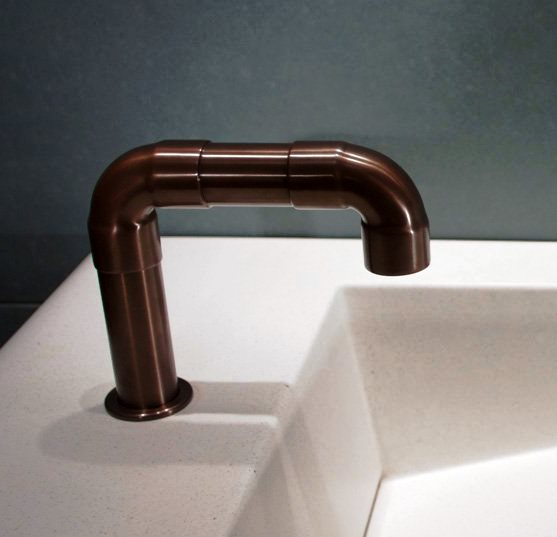 Picture of Sonoma Forge   Bathroom Faucet   Elbow Spout   Deck Mount   Hands Free