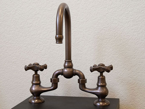 Sonoma Forge | Bar or Prep Faucet | Brownstone | Deck Mount