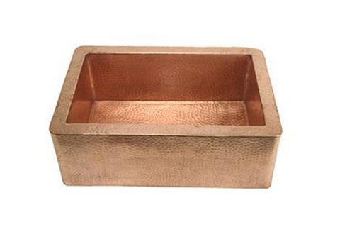 "30"" Single Well Copper Farmhouse Sink by SoLuna"