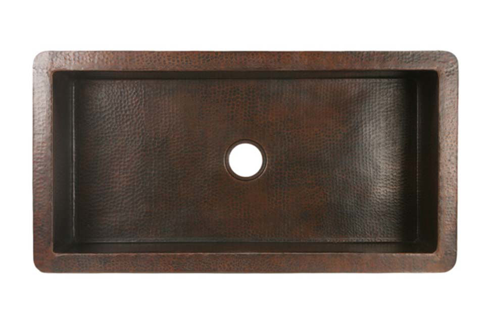 "Picture of 42"" Copper Kitchen Sink by SoLuna"