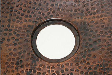 """36"""" Double Well Copper Kitchen Sink - 50/50 by SoLuna"""