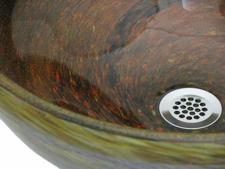 Blown Glass Sink   Copper River