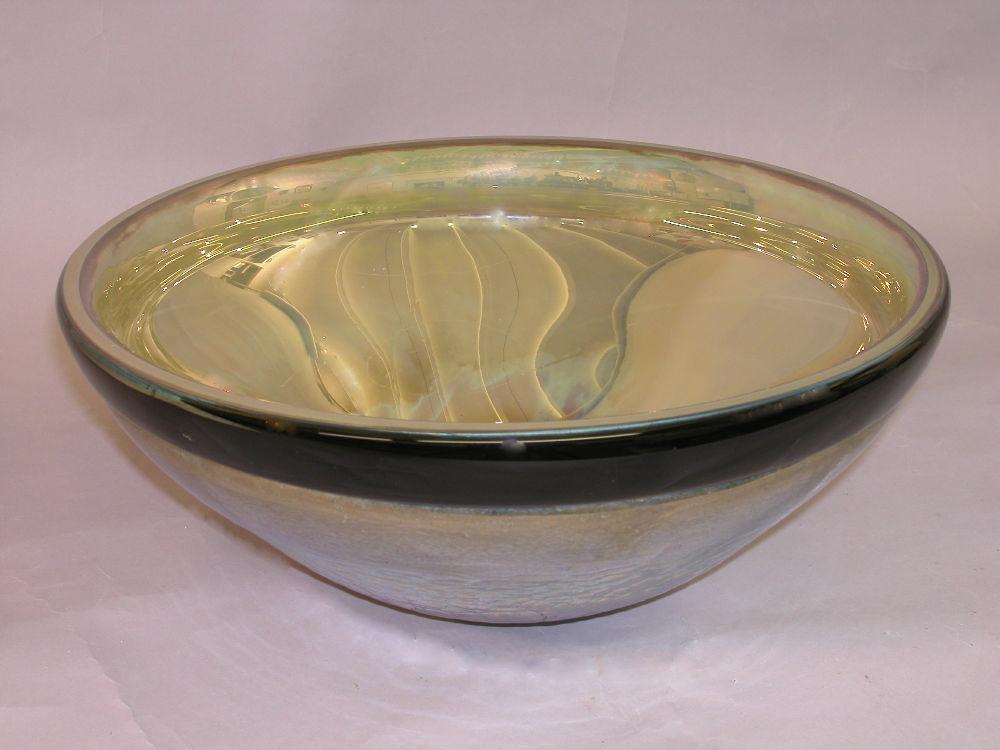 Blown Glass Sink | Iris Gold Mercury