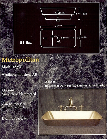 Picture of Metropolitan Bronze Bath Sink