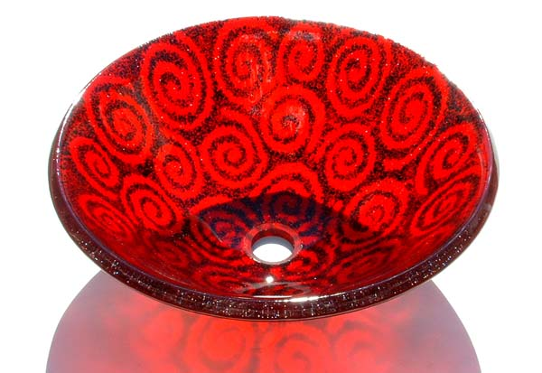 Picture of Spiral Cherry Red Vessel Sink