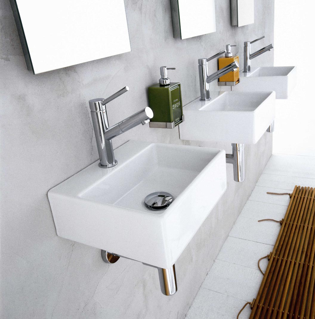 "Picture of Quarelo 19.7"" Italian White Ceramic Sink"