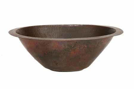"Picture of 17.5"" Oval Copper Bar Sink w/Flat Bottom by SoLuna"