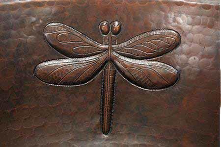 "17"" Prescenio Copper Vessel Sink - Dragonfly by SoLuna"
