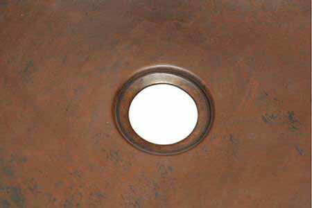 "Picture of 20"" Copper Bar Sink - D-Shape by SoLuna"