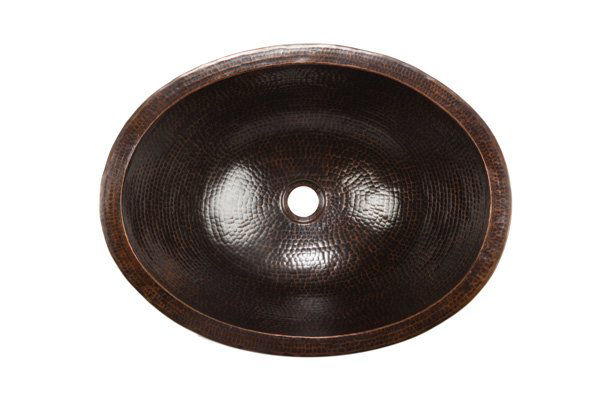 """Picture of 19"""" Oval Caliz Copper Vessel Sink by SoLuna"""