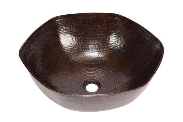 """Picture of 16"""" Espeso Canto Copper Vessel Sink by SoLuna"""
