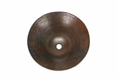 "Picture of 16"" Espeso Pirucho Copper Vessel Sink by SoLuna"