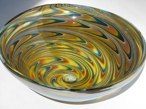 "20"" Large Light Amber Vortex Vessel Sink"