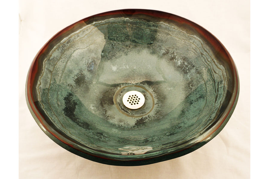 Picture of Sagestone Glass Vessel Sink