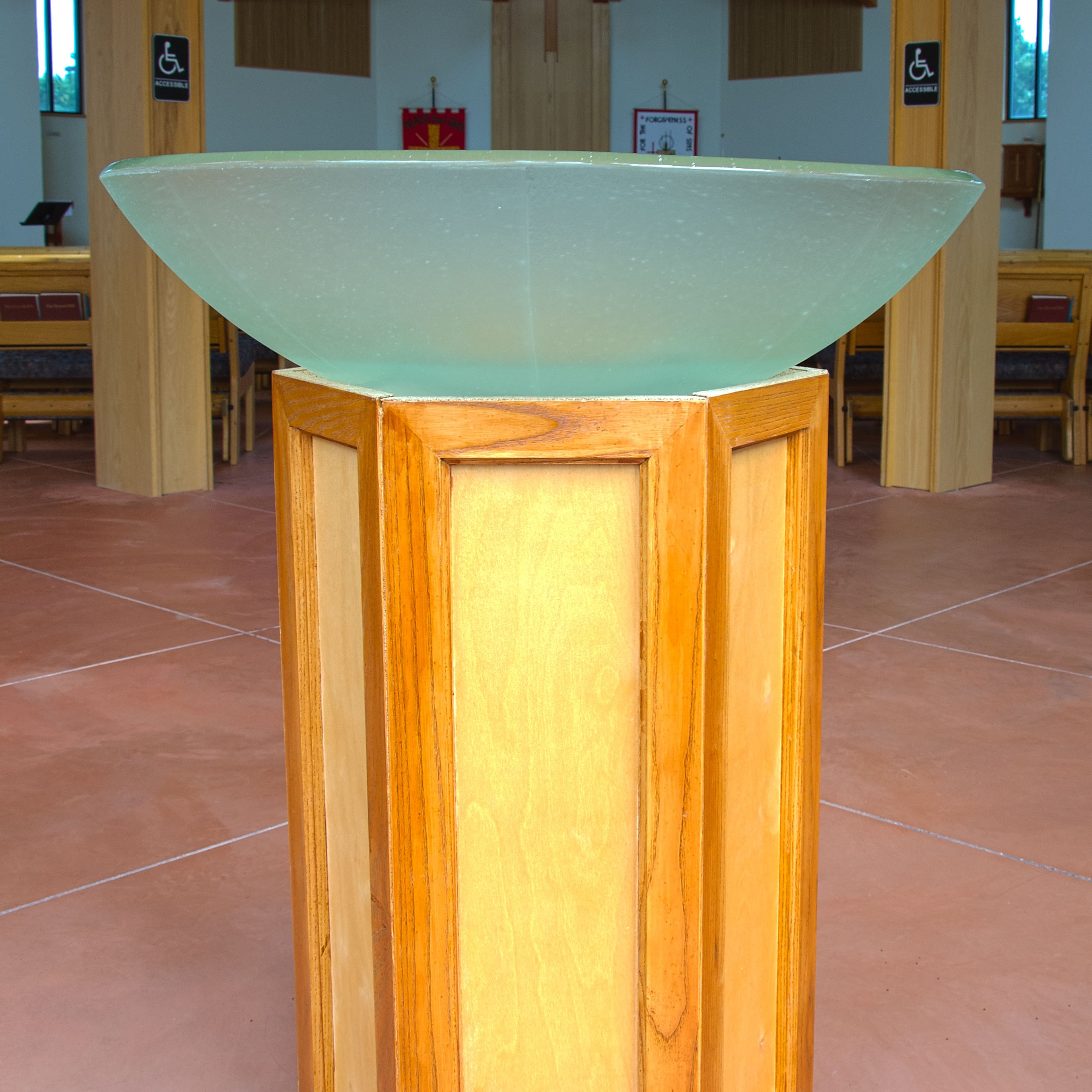 Picture of Glass Baptismal Font