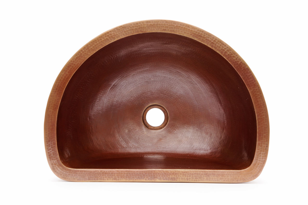 "Picture of 18"" D-Shape Copper Vessel Sink by SoLuna"