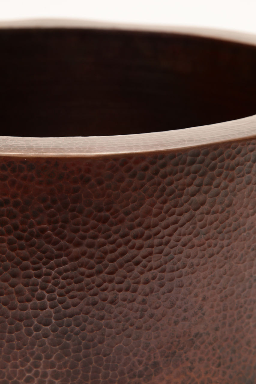 """Picture of 19"""" Round Copper Bar Sink w/Apron by SoLuna"""