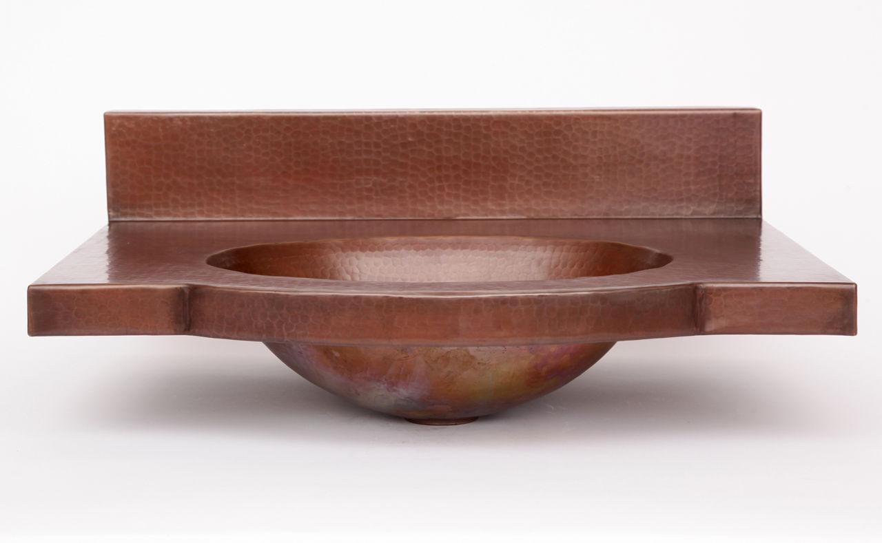 "24"" Wall-Mount Oval Copper Bathroom Sink by SoLuna"