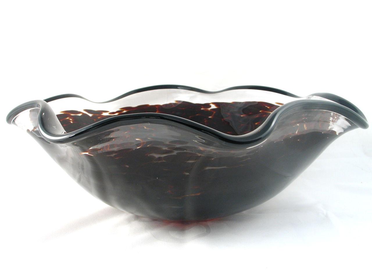 Blown Glass Sink | Dark Tortoise Splash