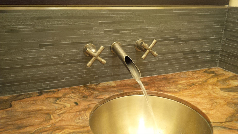 Picture of Sonoma Forge | Bathroom Faucet | Wherever Waterfall | Wall Mount