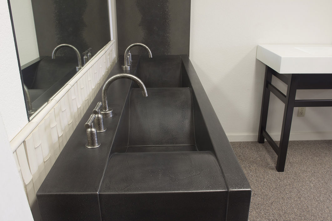 Picture of Sonoma Forge | Bathroom Faucet | WherEver Gooseneck | Deck Mount