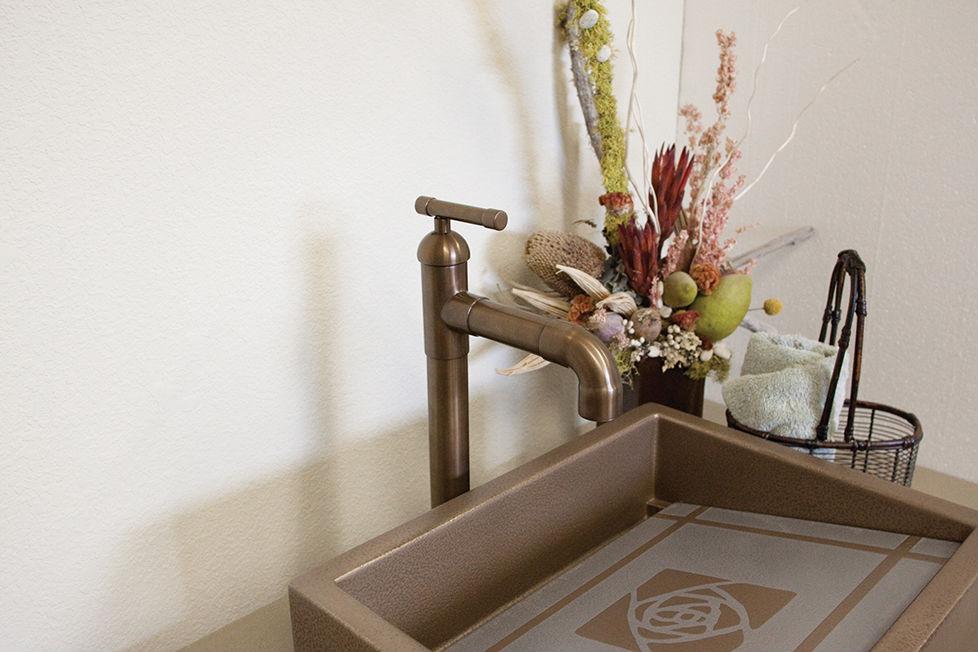 Picture of Sonoma Forge | Bathroom Faucet | Brut Elbow Spout Vessel | Deck Mount