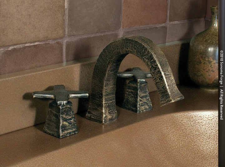 Picture of Sonoma Forge   Bathroom Faucet   CIXX   Deck Mount