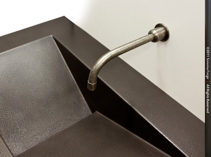 Picture of Sonoma Forge | Bathroom Faucet | Gooseneck | Wall-Mount | Hands Free