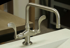 Picture of Sonoma Forge | Kitchen Faucet | Wingnut Square Spout with Side Spray | Deck Mount