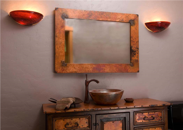 Picture of Rustic Copper Mirror