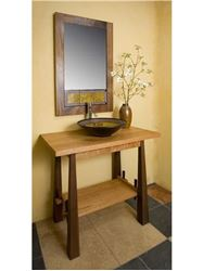 Cherry and Walnut Wood Vanity