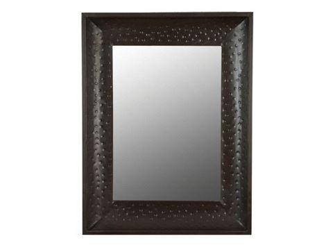 Large Hammered Metal Mirror Frame