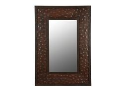 Extra Large Rectangular Hammered Metal Mirror