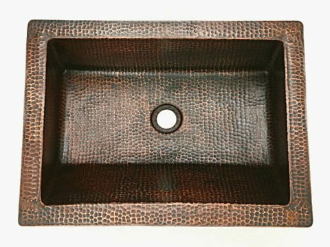 "20"" Angled Wall Copper Bathroom Sink by SoLuna"