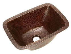 "17"" Rectangle Copper Bar Sink by SoLuna"