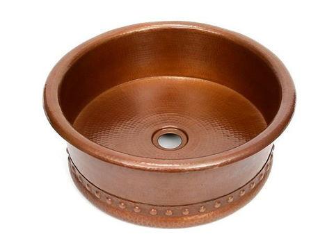 """15"""" Copper Vessel Sink w/Skirt by SoLuna"""