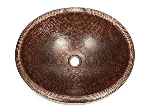 "18"" Oval Prescenio Copper Vessel Sink by SoLuna"